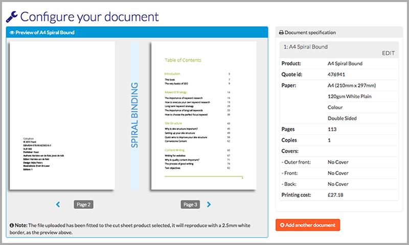 Configure document