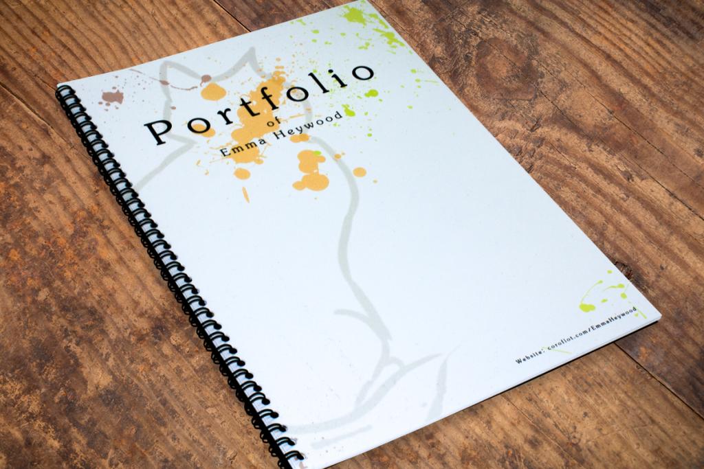 Spiral bound portfolio