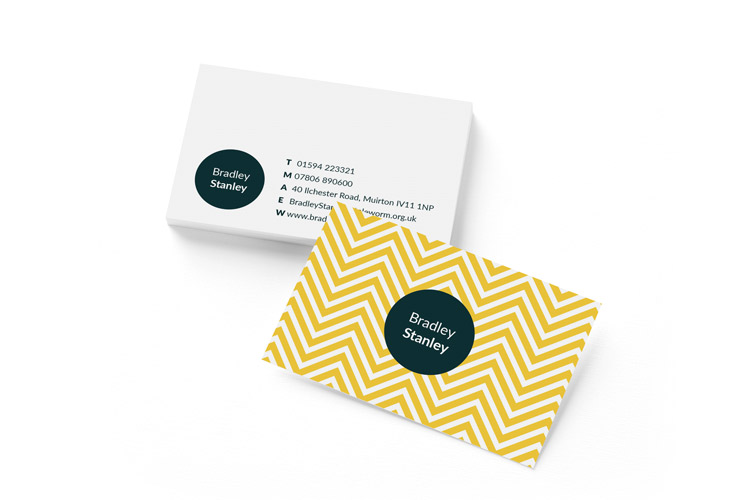 business card landscape print