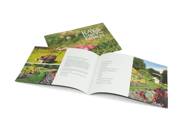 Landscape Saddle stitch booklet