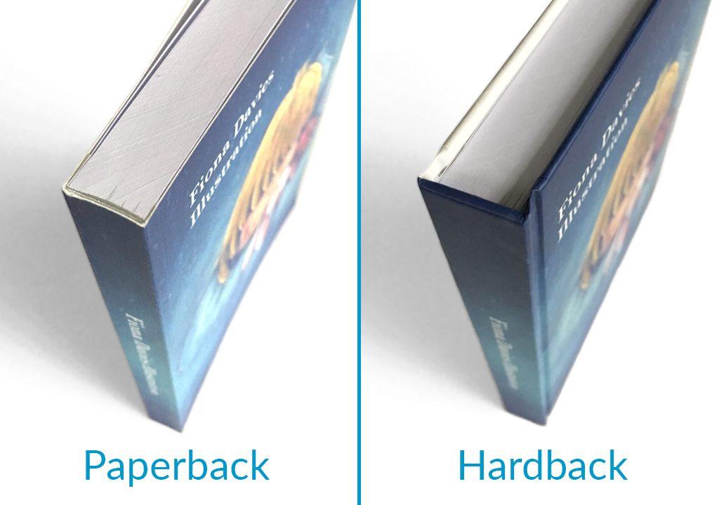 Paperback and hardback book comparison