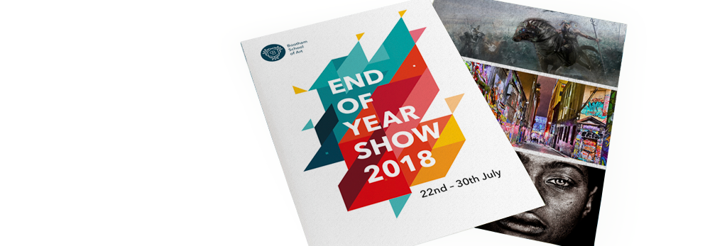 End of year show poster