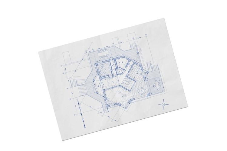 poster plan blueprint landscape